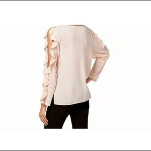 1.State: cream color Long sleeves women blouse.